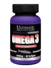 Omega-3 Рыбий жир 1000мг 90кап. (Ultimate Nutrition)